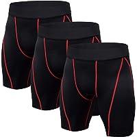 Niksa 3 Pack Mens Compression Shorts Gym Running Sports Underwear Base Layer Shorts Sports Undershorts Quick-Drying…