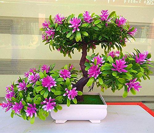 artificial Bonsái Bonsai sintético decorativo Artificial flor de la planta con Potted Decoración tabla sala estar afortunada Feng Shui Decorativa árboles floración , #13