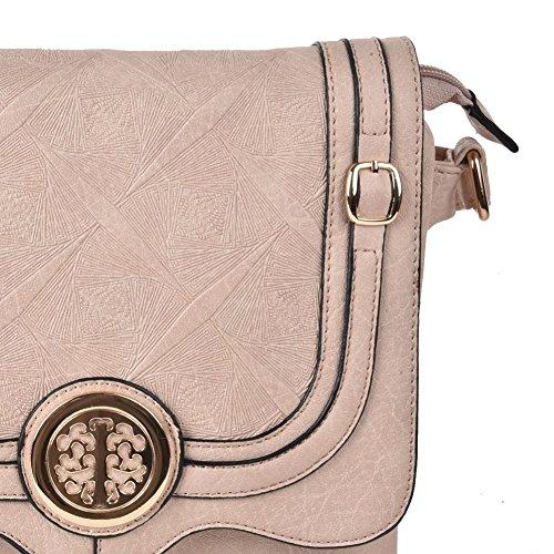 Premium Leather - Borsa a tracolla bambina donna unisex adulto Apricot
