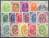 Goldhahn BRD Nr. 123-138 gestempelt Posthorn 1951 Briefmarken für Sammler