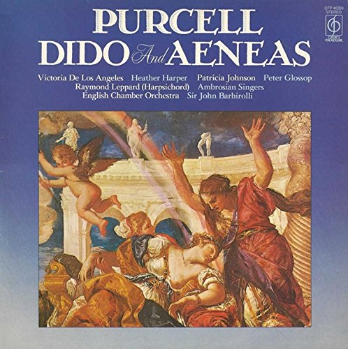 Dido And Aeneas - Henry Purcell ; Victoria De Los Angeles, Heather Harper, Patricia Johnson (3), Peter Glossop, Raymond Leppard (Harpsichord), Ambrosian Singers, The, English Chamber Orchestra, Sir John Barbirolli LP