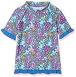 DIMO-TEX Sun Baby-Mädchen Schwimmshirt Schwimm-Shirt UV-Schutz 50, Mehrfarbig (AOP Blumen), 80