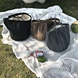 WXIN WXINUmhängetascheakkordeon Bundfalten, Plissiert, Schultertaschen, Leinwand zusammenfügen, schiefe, Das Frauen - tüte pu - Eimer - Paket,Khaki.