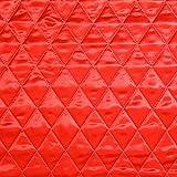 Unbekannt Steppstoff Satin doppelseitig – rot —