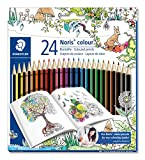 Staedtler 185 C24JB Noris Coloured Pencil, Johanna Basford Design - Assorted Colours, Pack of 24