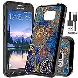 Samsung Galaxy S7 Active Hülle Mit Micro USB 2.0 Kabel,Wtiaw [Kratzfest] Acryl Hard Cover mit TPU Stoßstange Hybrid Ultra Slim Schutz für Galaxy S7 Active -YKL Schwarz
