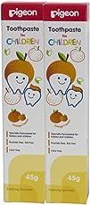 Pigeon Orange Toothpaste (45g, Pack of 2)