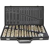 230 Teiliges Metallbohrer Set 1-13mm Spiralbohrer Satz Titan beschichtet DIN338 Stahlbohrer HSS Spiral-Bohrer
