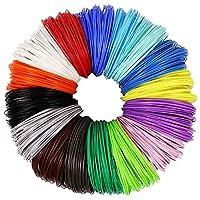 3D Pen PLA Filament Refills 1.75mm, 16 Colors, 10 Foot per Color, Total 160 Foot