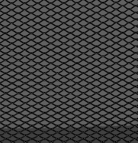 Autostyle TG1253Z Racemesh 125 x 25 cm, Diamant 16 x 8 mm, Schwarz