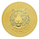 "2 oz Goldmünze Australien 2010 Lunar Serie II ""Year of the Tiger"" - 2 Unze 999,9 Gold"