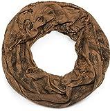 styleBREAKER sciarpa scaldacollo a fantasia stile vintage usato destroyed, sciarpa scaldacollo, foulard, unisex 01016150, colore:Cognac