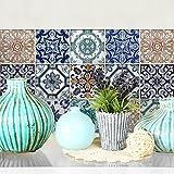 25 azulejos 20x20 cm - PS00004 Pegatinas de PVC para los azulejos para baño y cocina Stickers design - Cuarto de baño decoración collage creativo