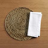 The Home Talk Set of 4 braided jute placemats, 35 cm round, 4 piece set, Best for bed-side table/center table, dining table/shelves- Natural Beige