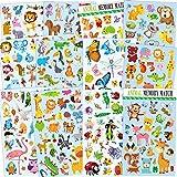 12 Blätter niedlichen Tier Aufkleber für Kinder, Lehrer, Eltern, Kinder Handwerk, Party Favors, Scrapbook Machen, Belohnung Aufkleber, Gift Warp