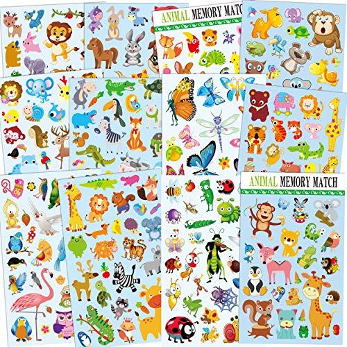 12 Blätter niedlichen Tier Aufkleber für Kinder, Lehrer, Eltern, Kinder Handwerk, Party Favors, Scrapbook Machen, Belohnung Aufkleber, Gift Warp -