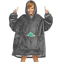 Oversized Hoodie for Kids, Blanket Hoodie Sweatshirt Blanket with Deep Pockets, Super Soft Fleece Dressing Gown, Warm…