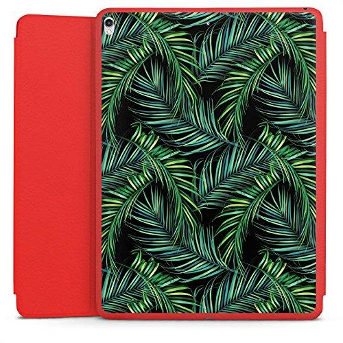 Apple iPad Pro 12.9 (2017) Smart Case rot Hülle mit Ständer Schutzhülle Palmen Dschungel - Dschungel-palme
