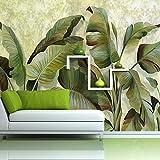 huangy ahui banane tropicali foglie, carta da parati, soggiorno, bagno, camera da letto, carta da parati, grandi, piante verdi, pitture murali in sud-est asiatico