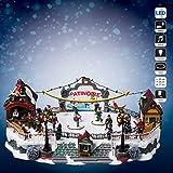 Weihnachtsdekoration, Motiv: Aspen, Eislaufbahn, beleuchtet, mit Musik