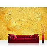 Vlies Fototapete 300x210 cm PREMIUM PLUS Wand Foto Tapete Wand Bild Vliestapete - WALL OF YELLOW SHADES - Abstrakt Hintergrund Dekoration Wand Spachtel farbige Wand gelb - no. 107