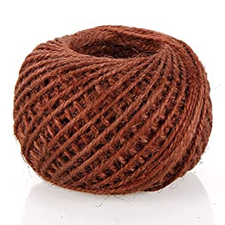 RUNGAO 50M DIY Color String Hemp Rope Photo Wall Making Twine Thread String Cord Shank Brown