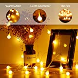 Outdoor String Lights, Boomile 10M Globe Garden Fairy Lights 80LED Bulbs Extra Long for Patio Bedroom Wedding Home Decoration