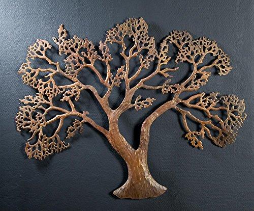 Gilde Handwerk Wanddeko Baum Wandbild rusty Bild braun Wandbaum Wandrelief 68063