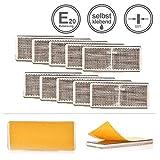 LED-MARTIN® 10er Sparset - Rückstrahler - Reflektor R4 - weiß - silber - mit Bohrung zur Festmontage - selbstklebend - zugelassen für den Straßenverkehr (E-Zeichen eingeprägt) - LKW - Auflieger - Anhänger