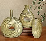 TiedRibbons Set of 3 Decorative Flower Vase Pot for Living Room Office Dining Table Bedroom Corner Table Center Table Home decoration