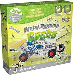 Science4you-Metal Building Coche Juguete científico y Educativo Stem (480152)