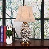 Tischlampe Keramik Nachttischlampe - 63cm Chinesische Wohnzimmer Studie Schlafzimmer Nachttischlampe American Villa Lampen