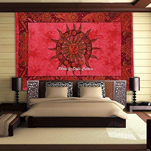 stylo-cultura-zodiaco-mandala-arazzo-cotone-peach-doppia-stampa-tie-dye-parete-sun-moon-hanging