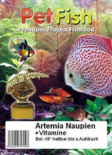 Naupien Baby Artemia Premium + Vitamine / 0,5 kg / 10 X 50g / frisch geschlüpft / das beste Jungfischfutter / Quality Brine SHRIMP / Premium Frostfutter / Diskusfutter / Zierfischfutter / Fischfutter / Diskus / Fische / Meerwasser Futter / Meerwasserfutter