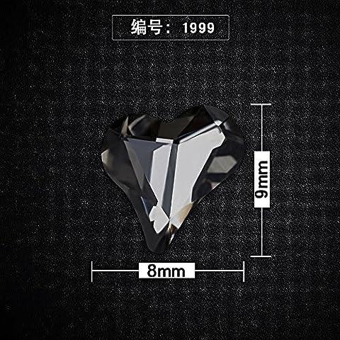 MZP Nagel Ornamente bohren spezielle Form Teufel Herz Bohrer Nagel Bohrer Nagel Schmuck Kristall Bohrer , 1999
