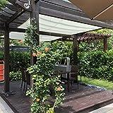 Frilivin Sonnensegel Rechteckig Sonnenschutz Garten UV Schutz Premium Schatten Tuch Markisen Weiß (2x3m)