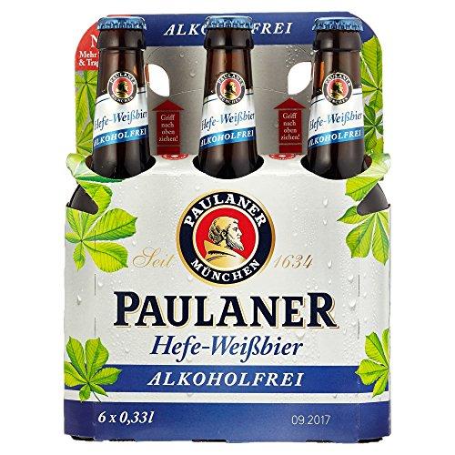 Paulaner Hefe-Weißbier Alkoholfrei Weizenbier Mehrweg (6 x 0.33 l)