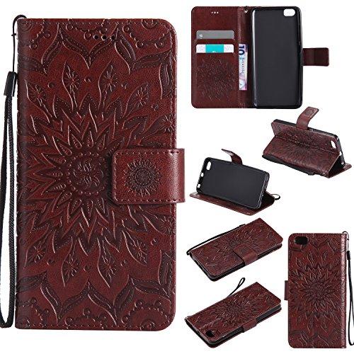 lonchee-xiaomi-mi-5-leder-wallet-tasche-brieftasche-schutzhulle-sonnenblumen-gepragten-muster-design