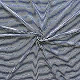 Viskose Stretch Jersey Ringel Mini Stoff Meterware