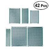 UKCOCO 42 pz Double Sided PCB Board Prototipo Kit per DIY Saldare 5 Taglie 4x6 3x7 5x7 2x8 7x9 CM