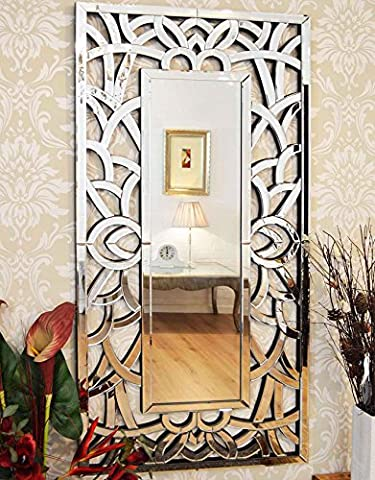 Large Exclusive Modern Swirl Design Venetian Wall Mirror 4ft10 x