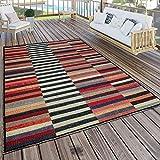 Paco Home In- & Outdoor Teppich Modern Boho Muster Terrassen Teppich Wetterfest Bunt, Grösse:160x220 cm