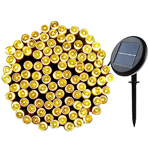 Solar String Lights Garden, Outdoor Waterproof Solar Powered Fairy Lights 72ft 200 LED, Lunalife Upgraded 8 Modes Christmas Lights, Ambiance Decorative Lighting for Party, Patio, Wedding, Landscape, Yard, Home, Fence, Holiday, Xmas Tree (Warm