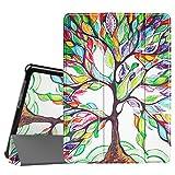 Fintie Huawei Mediapad T3 10 Hülle Case - Ultra Dünn Superleicht Flip Schutzhülle mit Zwei Einstellbarem Standfunktion für Huawei MediaPad T3 (9,6 Zoll) 24,3 cm Tablet-PC, Liebesbaum