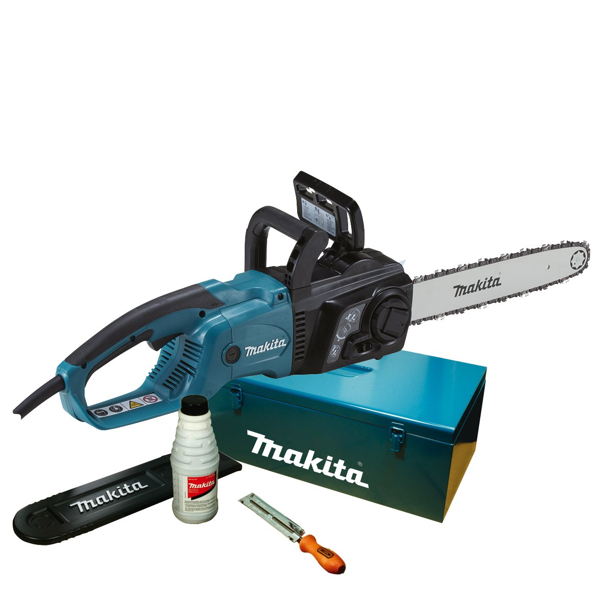 Makita UC4051AK 2200W power chainsaw - power chainsaws (76.2 / 8 mm (3 / 8), Black, Blue)