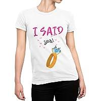 CHEMAGLIETTE! T-Shirt Addio al Nubilato Maglietta Divertente Donna con Stampa Sposa Amiche