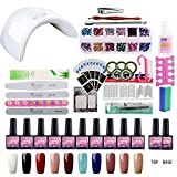 Saint-Acior 36w UV LED Lampe komplett Set UV Gel Lacken Nail Art gel nagellack Maniküre Pediküre Starterset uv Nageldesign Farbgel gellack Nagelset
