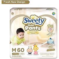 Sweety Fit Pantz Gold Series Baby Medium Diapers, Super Jumbo Pack, Count 60