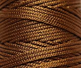 #8: HONEY GOLDEN BROWN colored Nylon 1mm Macrame Cord (125 Meters) 4 ply Nylon Chinese Knotting poly propylene cord for Macrame (Approx - 85 grams) ideally used for Jewelry making, bags and various other Craft projects. Pattern- PT27