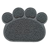 Hexawata Non Slip Cat Door Mat Traps Litter from Box and Paws for Kitty Dogs Rabbit Deep Grey 12x16 Inch